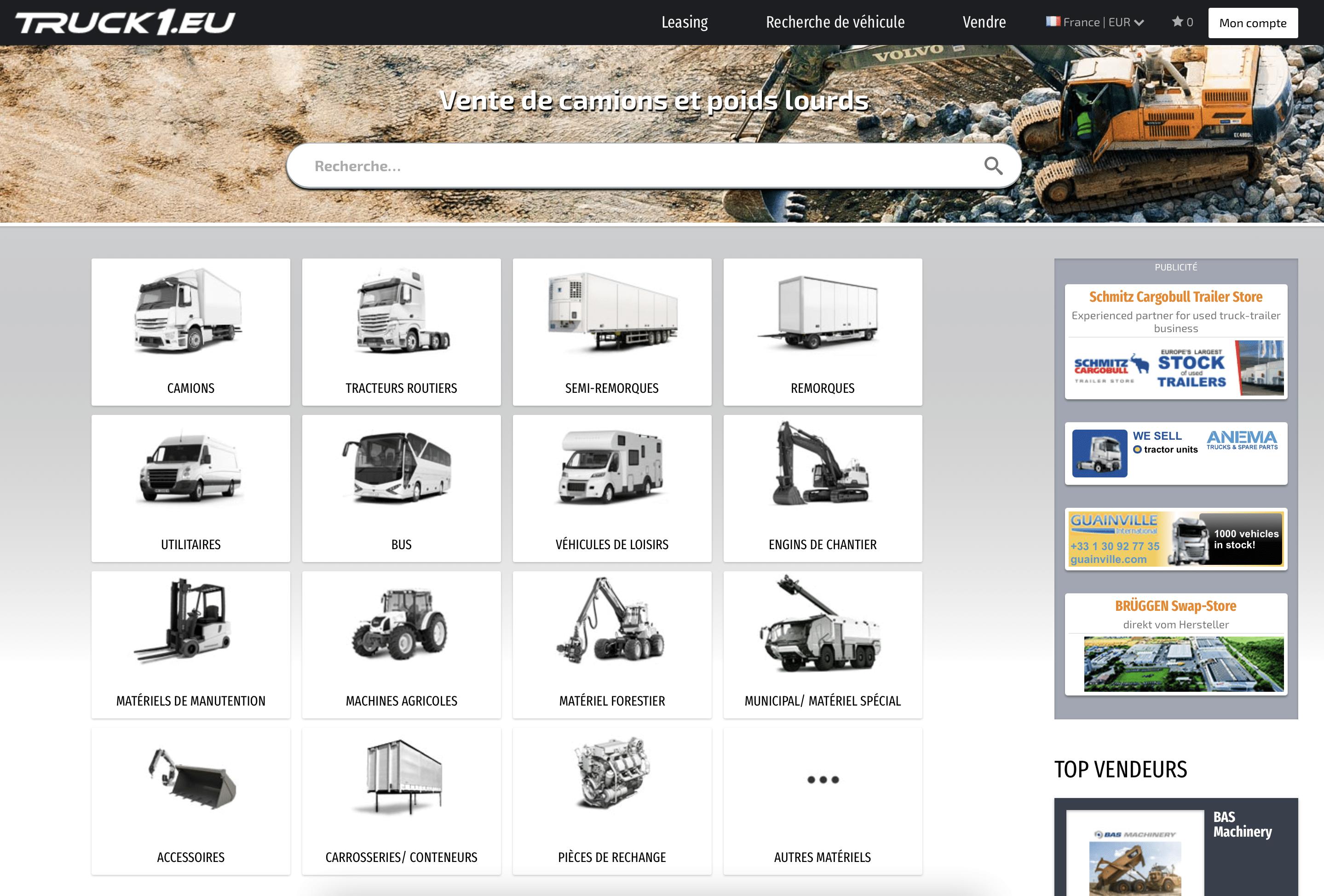 Truck1 - site spécialisé dans la vente de poids lourds
